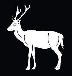 Silhouette deer vector