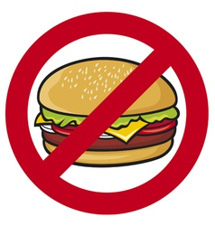 stop fast food vector image