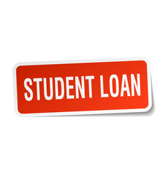 Student loan square sticker on white vector
