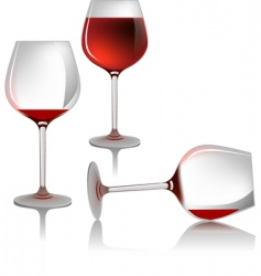 wine glasses vector image