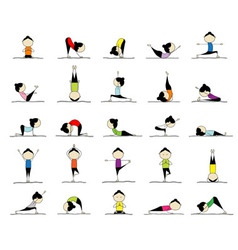 yoga practices vector image vector image