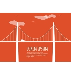 Bridge minimalistic banner vector