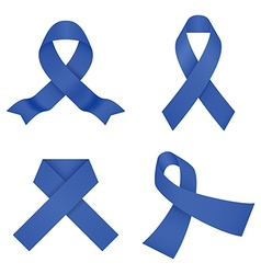 Blue awareness ribbons vector