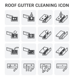 gutter cleaning icon vector image