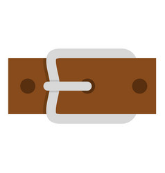 Leather belt with silver buckle icon isolated vector