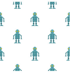 Android robot pattern seamless vector