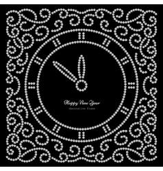 sNew Year clock on black vector image