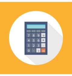 Calculator flat concept icon vector