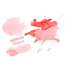 Hand paint watercolor abstract background vector