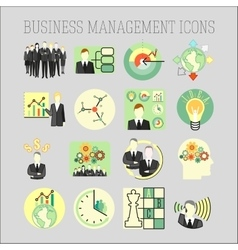 Set of a business and management icons vector