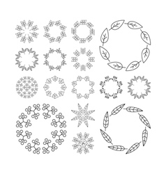 Floral Elements Printing for Natural vector image