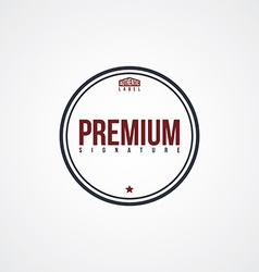 Premium label theme vector