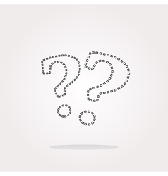 Stylish web button with question mark web vector