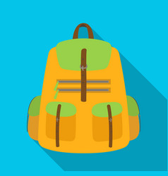 a backpack for thingstent single icon in flat vector image vector image