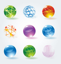abstract 3d glossy spheres vector image vector image