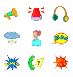 annoying icons set cartoon style vector image vector image