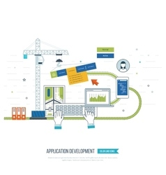 Application development concept for e-business vector image