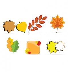 autumn sheet vector image