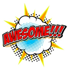 awesome design element vector image