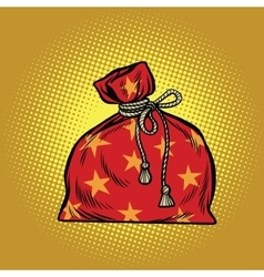 Bag of Santa Claus Christmas and New year vector image