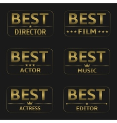 Best Film Awards vector image