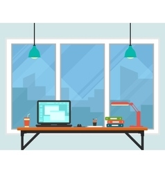 business workplace room interior vector image vector image
