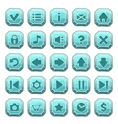 Buttons square blue vector image