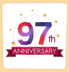 Colorful polygonal anniversary logo 2 097 vector