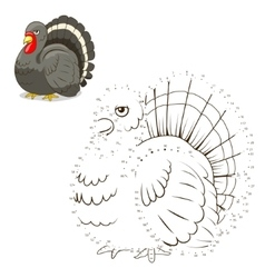Connect the dots game turkey vector image