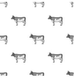cowanimals single icon in monochrome style vector image