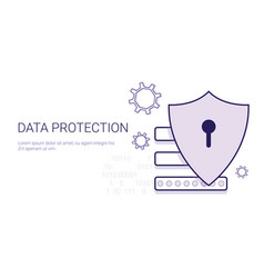 data protection security online business concept vector image vector image