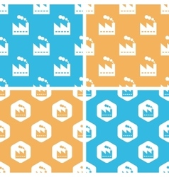 Factory pattern set colored vector