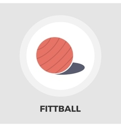Fittball flat icon vector image