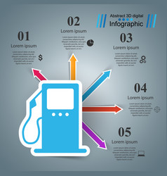 gas station - business infographic vector image