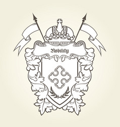 heraldic emblem - royal coat of arms vector image