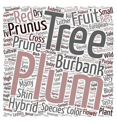 History of plum trees and their hybrids text vector