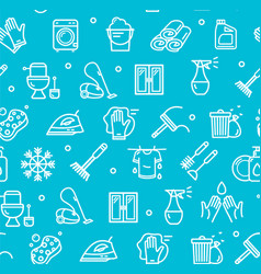 household and cleaning tools pattern background on vector image vector image