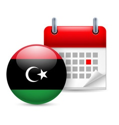 Icon of national day in libya vector image vector image