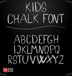 Kids chalk font vector