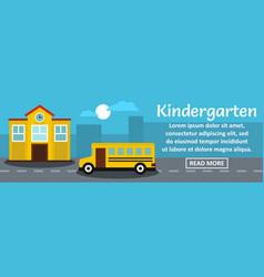 kindergarten banner horizontal concept vector image