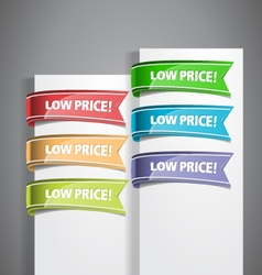 Low Price Labels vector image vector image