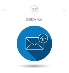 Mail outbox icon Email message sign vector image vector image