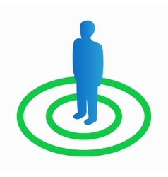 Man selected icon isometric 3d style vector