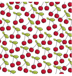 Natural cherry bacground icon vector