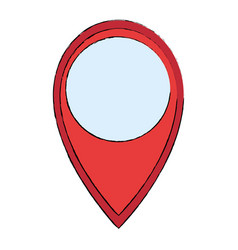 pointer location isolated icon vector image