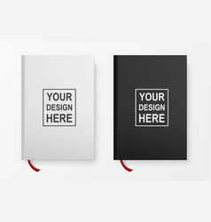 realistic book blank cover set design templates vector image