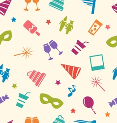 Seamless Pattern of Party Colorful Icons Wallpaper vector image