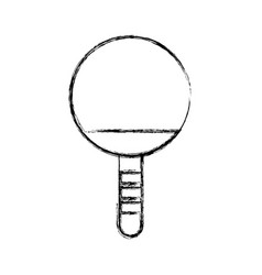 Sketch draw ping pong racket vector