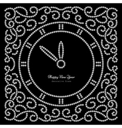 sNew Year clock on black vector image