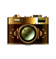 Steampunk camera isolated vector image vector image